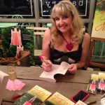 Signing Books at the UNLEASHING MR. DARCY Launch Party - Bird Bakery with Books, Champagne & Cupcakes (Oh My)!