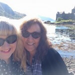 Teri Wilson and Julia London at Eilean Donan Castle, Scotland
