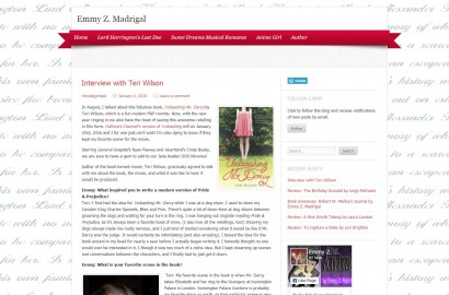 An Interview with Teri Wilson at Emmy Z. Madrigal's Blog