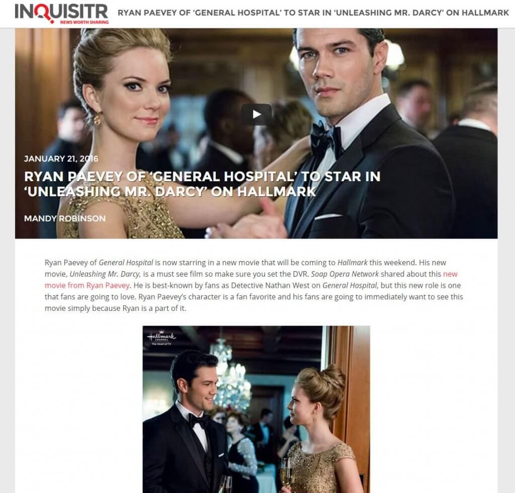 Unleashing Mr. Darcy Inquisitr Article