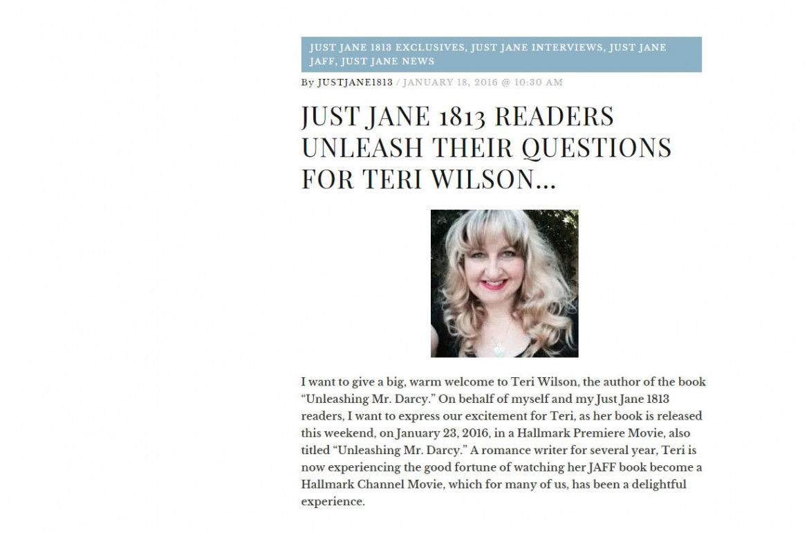Interview with Teri Wilson at Just Jane 1813