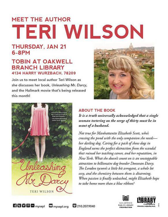 Meet Author Teri Wilson at the San Antonio Public Library