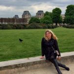 At the Jardin des Tuileries with the Louvre in the background. I ❤️ Paris.